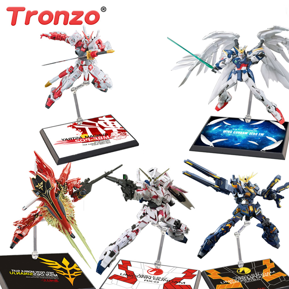 Tronzo Action Figure Support Gundam Model Bracket Stand Robot DIY Gunpla Sinanju Banshee Astray EW Display Base For RG HG 1/144(China)