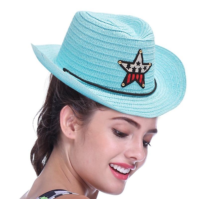 Outdoor Boy Cowboy Hat Summer Straw Hat For Boys Girls