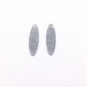 Image 4 - Neue ankunft! 49x15mm 100 pcs/lot acryl Zwiebel pulver oval form für Ohrring zubehör, ohrring teile Schmuck machen