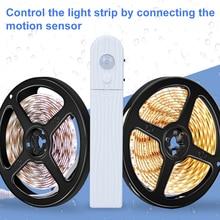 LED Motion Sensor Lamp Strip Led Light 5V Dimmable Under Cabinet Led Battery Light Diode SMD 2835 Waterproof Kitchen Lighting стоимость