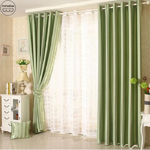 XinHuaEase blackout rideau pour chambre simple moderne rayé rideaux ...
