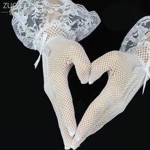 Zuoyiting детские перчатки белые эластичные тюль для свадьбы