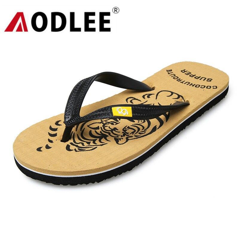 AODLEE Flip Flops Men Slippers 2019 Summer Men Casual Shoes Breathable Beach Sandals Slippers Flip Flops Men Slides Dropshipping
