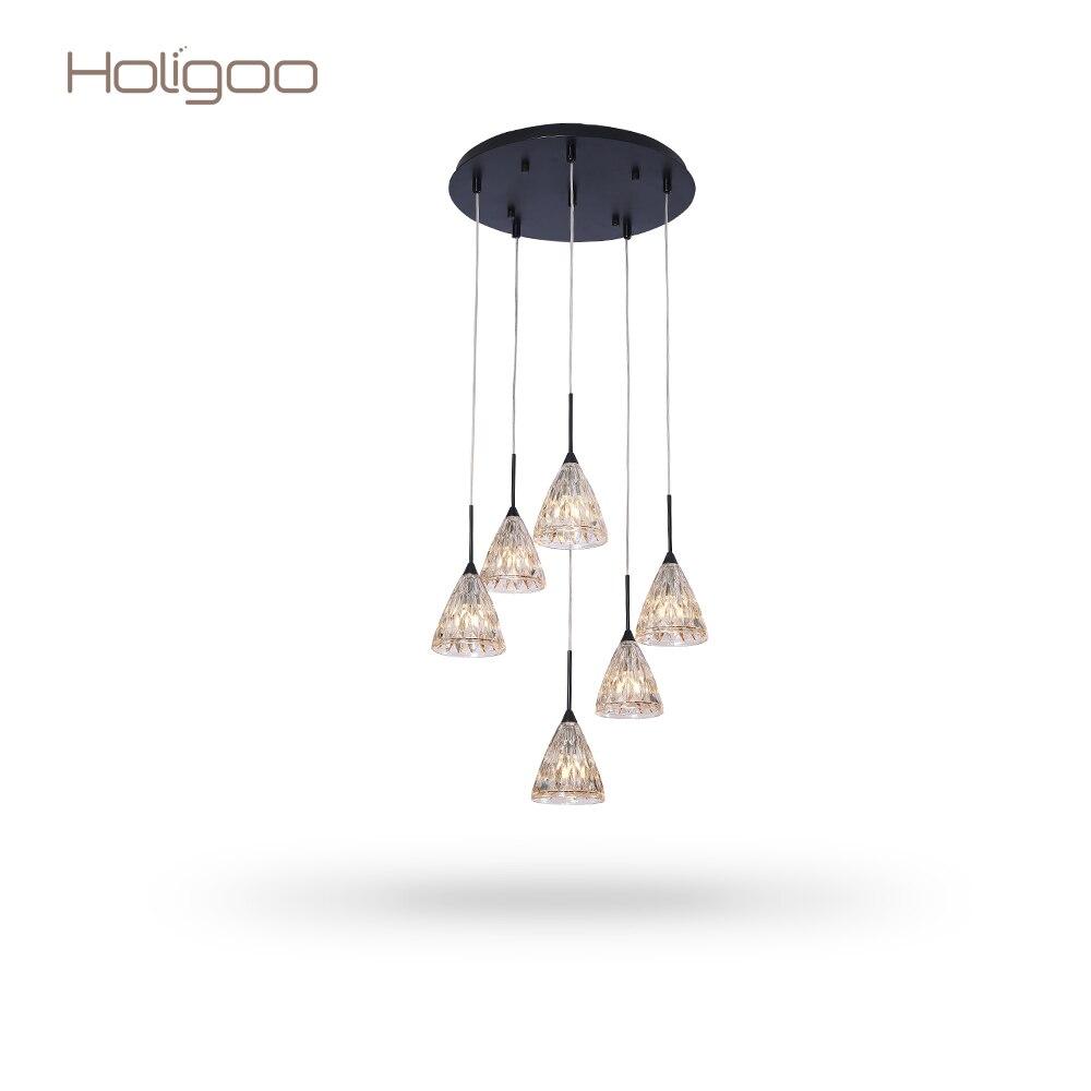 Holigoo Retro Vintage Pendant Lights Glass Lampshade Loft Pendant Lamp E27 110V 220V for Dinning Room Home Decoration Lighting цена и фото