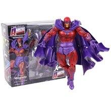 놀라운 야마구치 Revoltech 시리즈 NO.006 Magneto PVC 액션 피규어 소장 모델 장난감