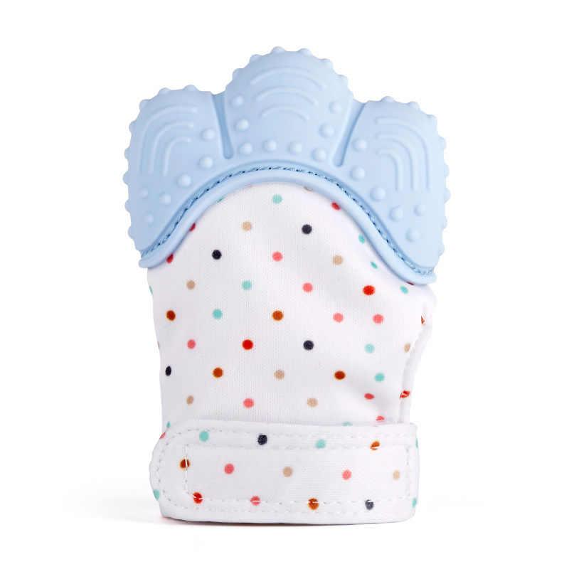 1 шт. силиконовый Прорезыватель для зубов соска для младенца перчатки укус Прорезывание Зубов, жевательные новорожденных с накатанной головкой детский Прорезыватель бусины сосать пальцы