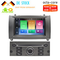 7Android 8.0 Car DVD Player Multimedia Stereo For Peugeot 407 2004 2005 2006 2007 2008 2009 2010 Autoradio GPS Navigation