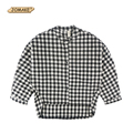 2016 Spring Toddler Girl Clothing Bat Long Sleeve Girls Shirts Casual Fashionable Single Breasted Elegant Classic Plaid Blouses