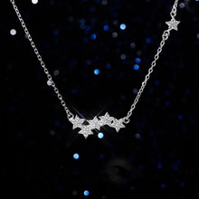 Everoyal Latest Crystal Star Necklace For Women Jewelry Trendy 925 Sterling Silver Accessories Girls Birthday Gift
