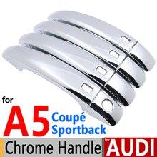 Для Audi A5 S5 хромированные покрытия для дверных ручек комплект отделки Sportback Coupe RS5 2007- S-line 2008 2009 Аксессуары для стайлинга автомобилей
