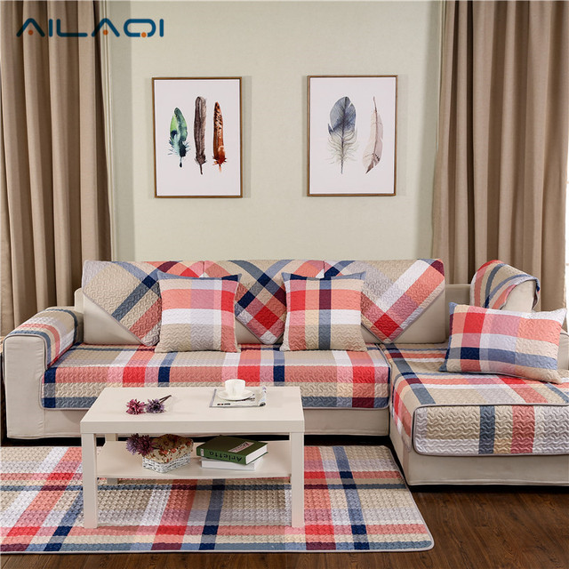AILAQI Moderne Streifen Rutschfeste Sofa Couch Deckt Kreative Design  Baumwolle Sofa Abdeckung Für Wohnzimmer 1 Stück