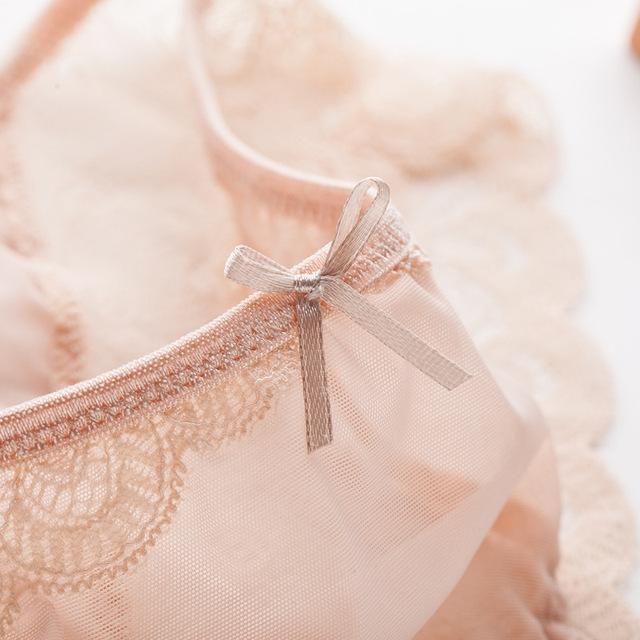 Zoe Saldana 2017 5 Pcs/Lot Sexy Underwear Women Ultra-thin Transparent Solid Panties Soft Lace Briefs (Copy)