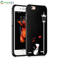 5S 5 SE Case Silicone Back Cover 3d Painted COCOSE Soft Matte Tpu Anti Knock Phone