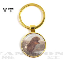Hedgehog In The Fog Keychain Men Women Pendant Statement Handmade Fashion Key Chain Ring Holder Jewelry For Gift(China)