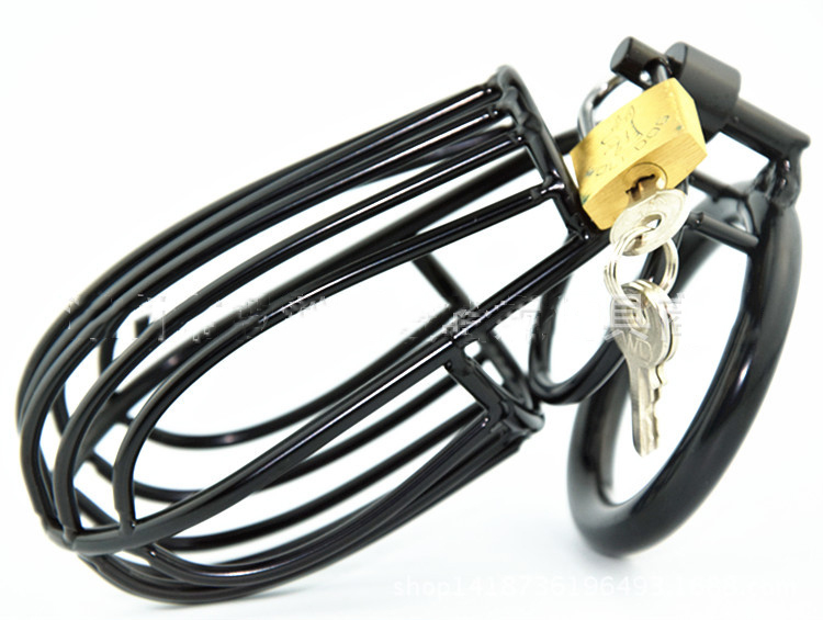 Men black Stainless Steel Male Chastity Locks Device Cock Locks big Cages Virginity Lock Chastity Belt Penis Locks Cock