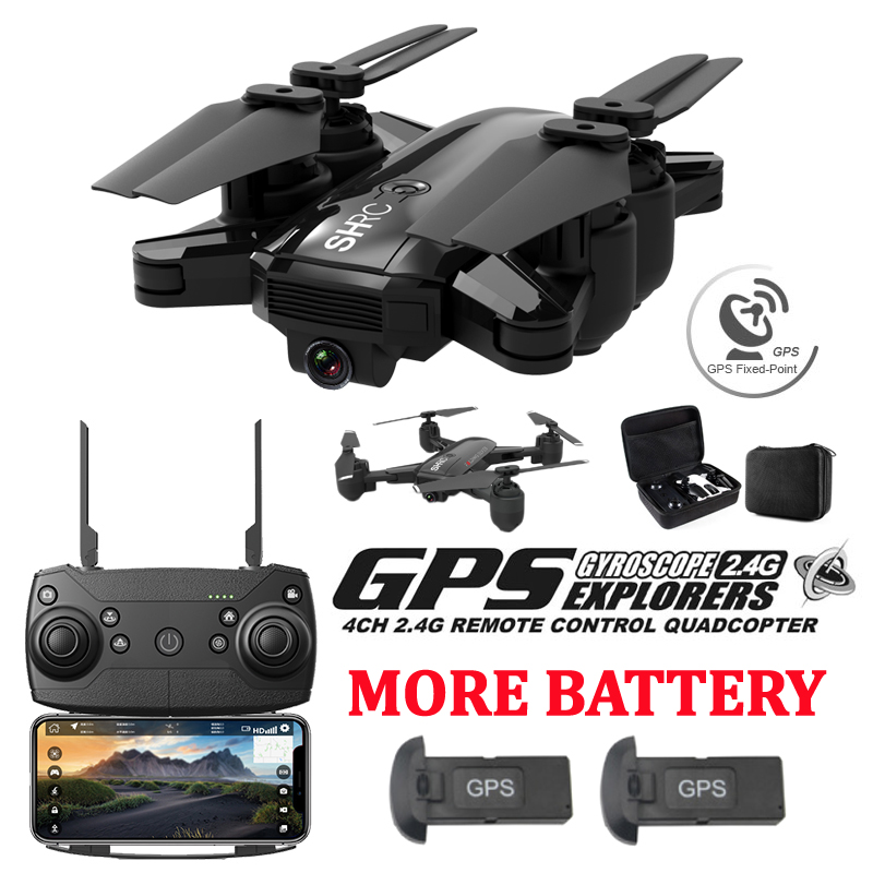 Drone GPS Foldable Global Positioning 500 Meters Distance Set Fly 1080P Camera HD FPV Professional gps