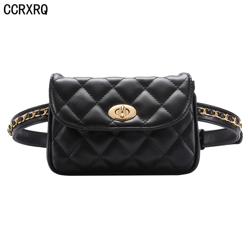 CCRXRQ Lady Waist Bags 2019 Fashion Brand Leather Fanny Pack Women Handy Belt Bag Shopping Phone Waist Packs Hot Sale Belt Pack