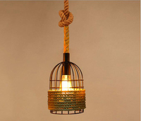 Retro Industrial Wind Bar Restaurant Creative Personality Network Cafe Bar Clothing Store Hemp Chandeliers