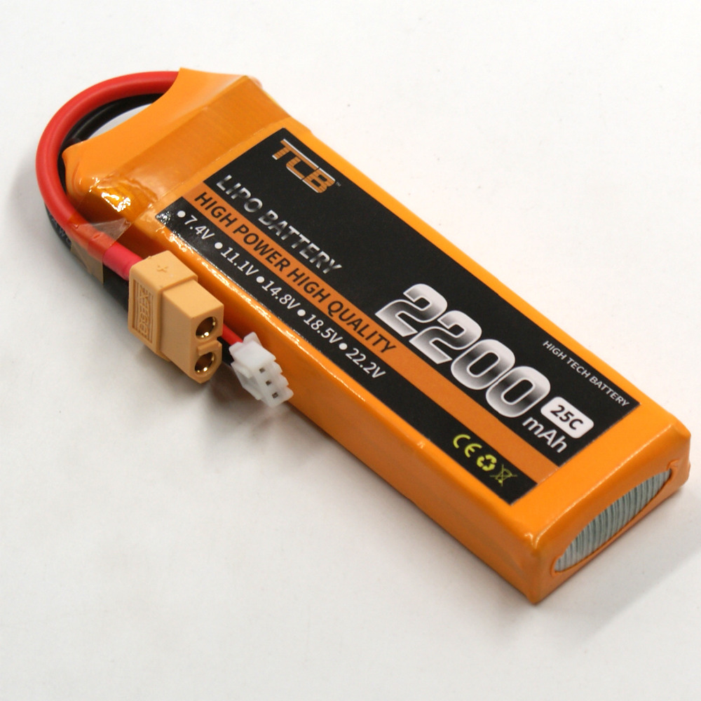 TCB RC helicopter Lipo battery 7.4v 2200mAh 25C 2s for RC Airplane Drone batteria Free Shipping