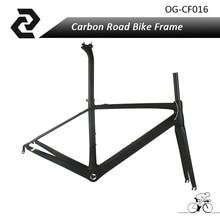 OG-EVKIN Cheap Road Bike Frame Sports Bicycle Cycling Frameset 3K Weave Glossy Matt Finish BSA/PF30 Di2 QR Type Chinese Factory