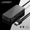 Ugreen todo en uno usb hub de alta velocidad de 3 puertos usb 3.0 HUB con TF/Lector de Tarjetas SD 1 m Cable para MacBook Laptop PC