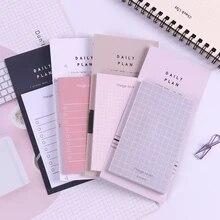 Novo bloco de notas adesivo 50 folhas, adesivos de papel de papelaria, álbum de recortes, qualidade, caderno de papelaria diy, 1 peça