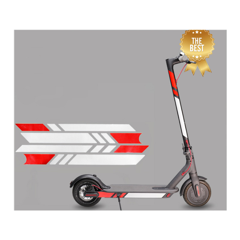 Xiaomi Mijia M365 Electric Scooter Reflective Stickers Reflect Light Tags Paster Decals Night Safety Warning Strip Reflector