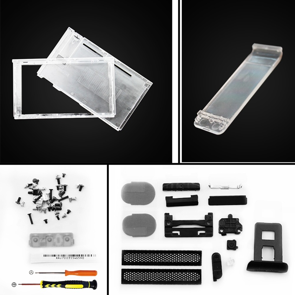 Replacement ABS Plastic Transparent Top Bottom Housing Shell Case Cover for NS Nintendo Switch Game Console Accessories