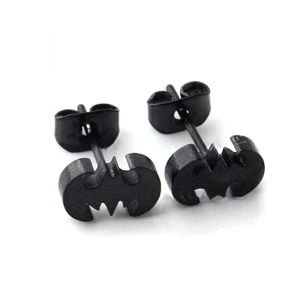 black batman earrings stainless steel jewelry trendy batman motor