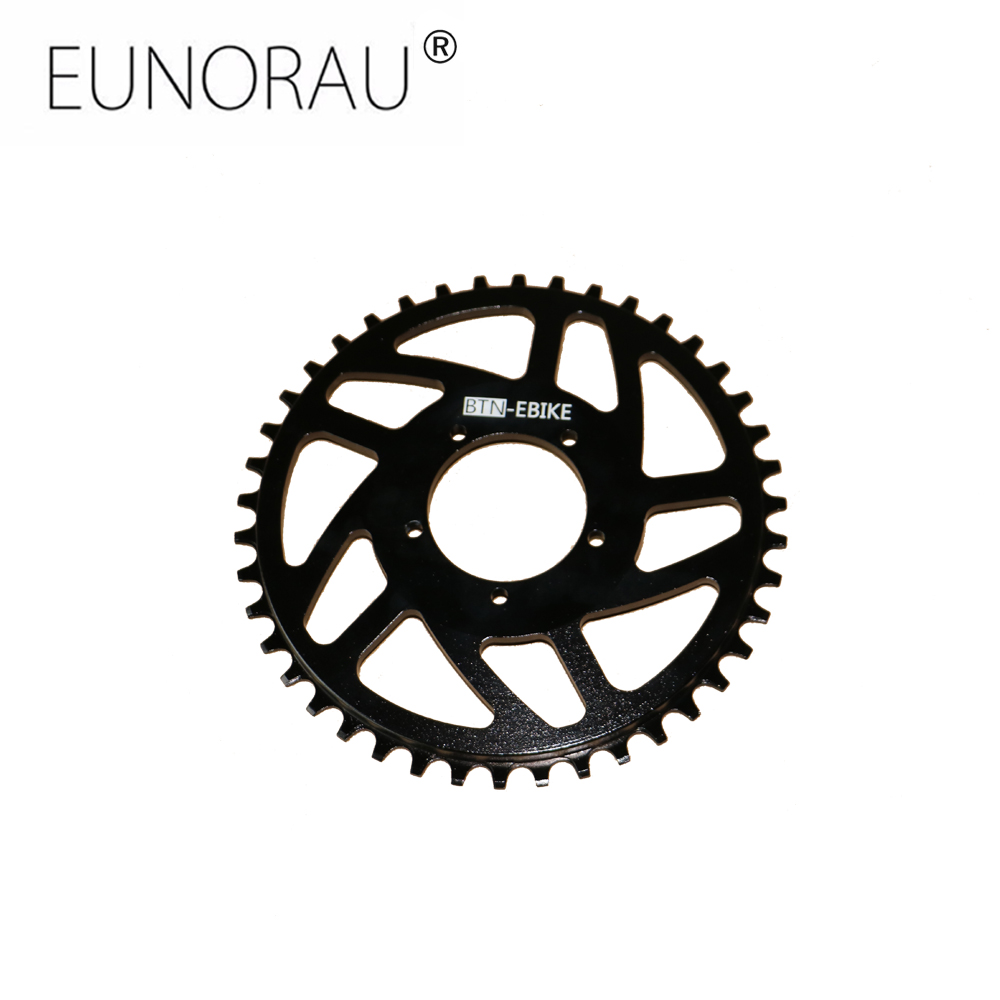 Free shipping New aluminum narrow wide 42T chainring for bafang BBS01/02 mid drive motor kit celestron wide narrow splint for cg4 cg5 eq3 to eq5