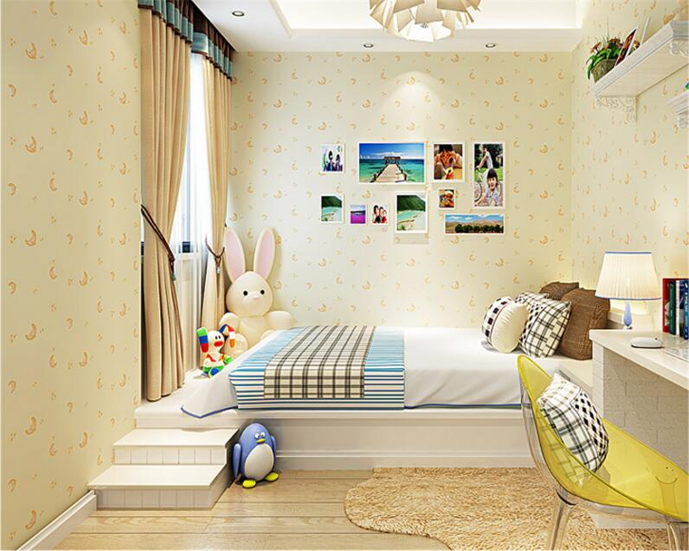 beibehang papel de parede Blue star moon boy girl bedroom non woven cartoon children room background wallpaper papier peint beibehang children room non woven wallpaper wallpaper blue stripes car environmental health boy girl study bedroom wallpaper
