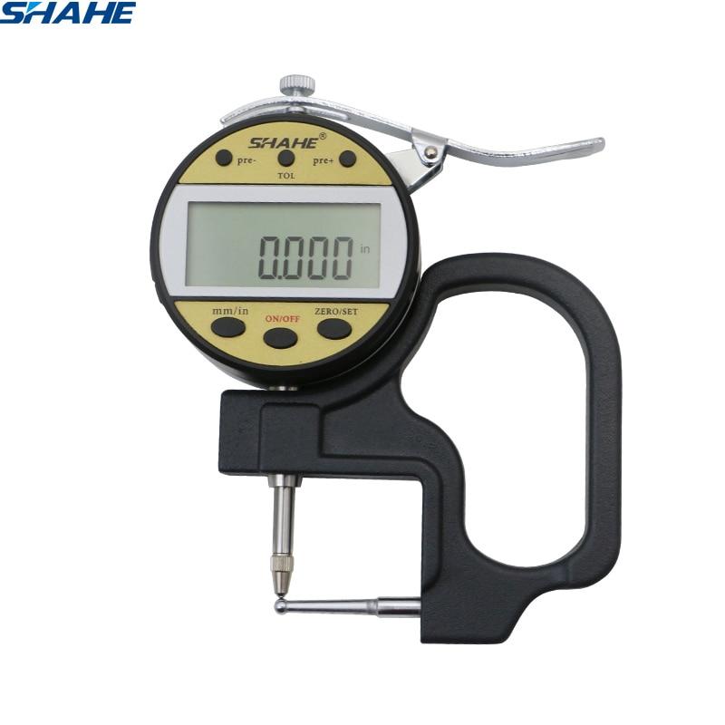 shahe 0 10 mm 0 01 mm Digital Tube Thickness Gauge digital thickness gauge