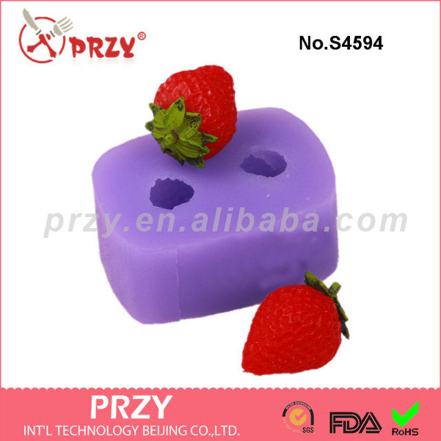 Strawberry mold for soap 2 hole strawberry silicone soap mold silicone fruit soap mold aroma stone moulds