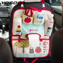 YOSOLO Car-styling Car Back Seat Organizer Stowing Tidying for kids Carriage Baby Diaper Universal Storage Hanging Bag Mummy Bag