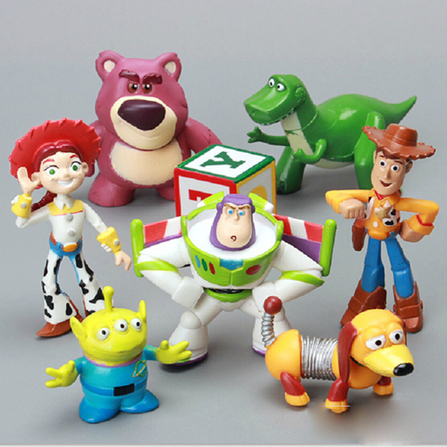 Toy Story Woody Buzz Lightyear Joan Cusack Spring Dog Bulleye Rex