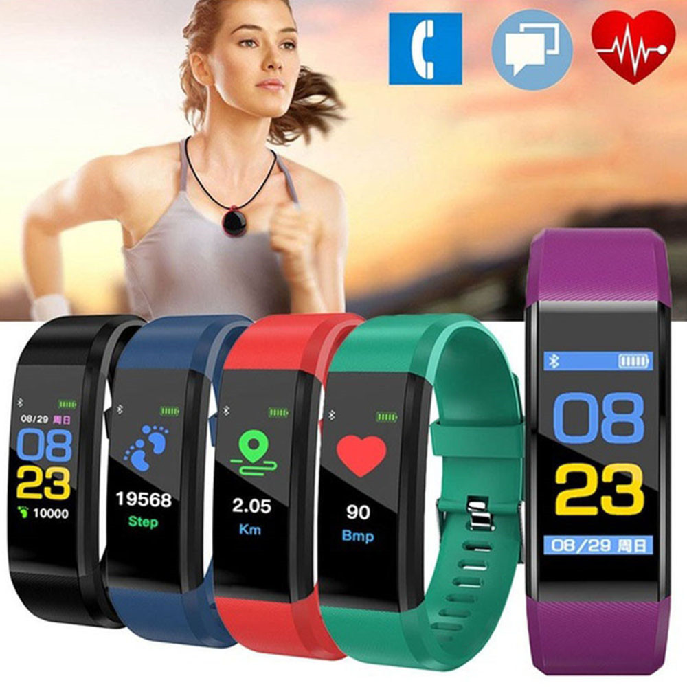 Image 3 - 115 Plus Smart Watch Bracelet Health Heart Rate Blood Pressure Fitness Tracker Wristband Monitor Sport band for ios android-in Smart Wristbands from Consumer Electronics