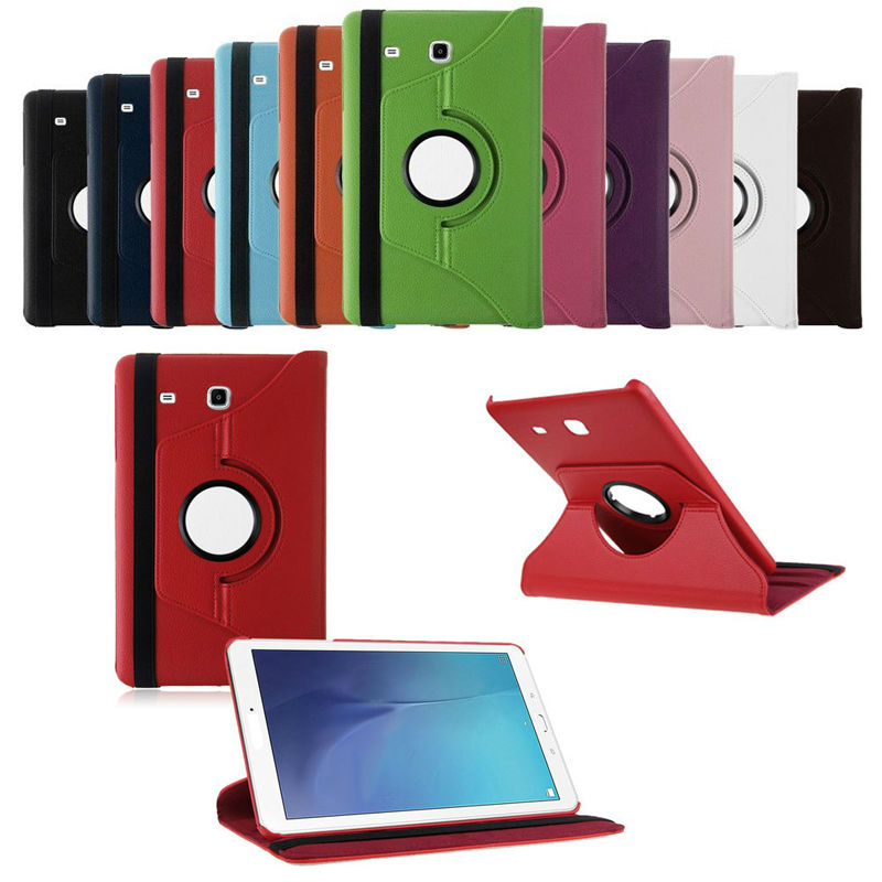 Fashion Synthetic PU Leather Stand Case Cover 360 Rotation For Samsung Galaxy Tab E 8.0 T377V Tablet PC Case 11 Colors C26 luxury flip stand case for samsung galaxy tab 3 10 1 p5200 p5210 p5220 tablet 10 1 inch pu leather protective cover for tab3