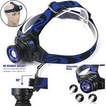 Тактический налобный фонарь перезаряжаемая ксеноновая СВЕТОДИОДНАЯ головная лампа+ зарядное устройство