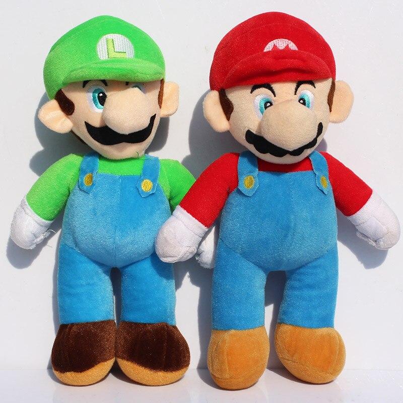 Large Size 17inch 43cm New Super Mario Bros MARIO LUIGI Plush Doll Stuffed font b Toy