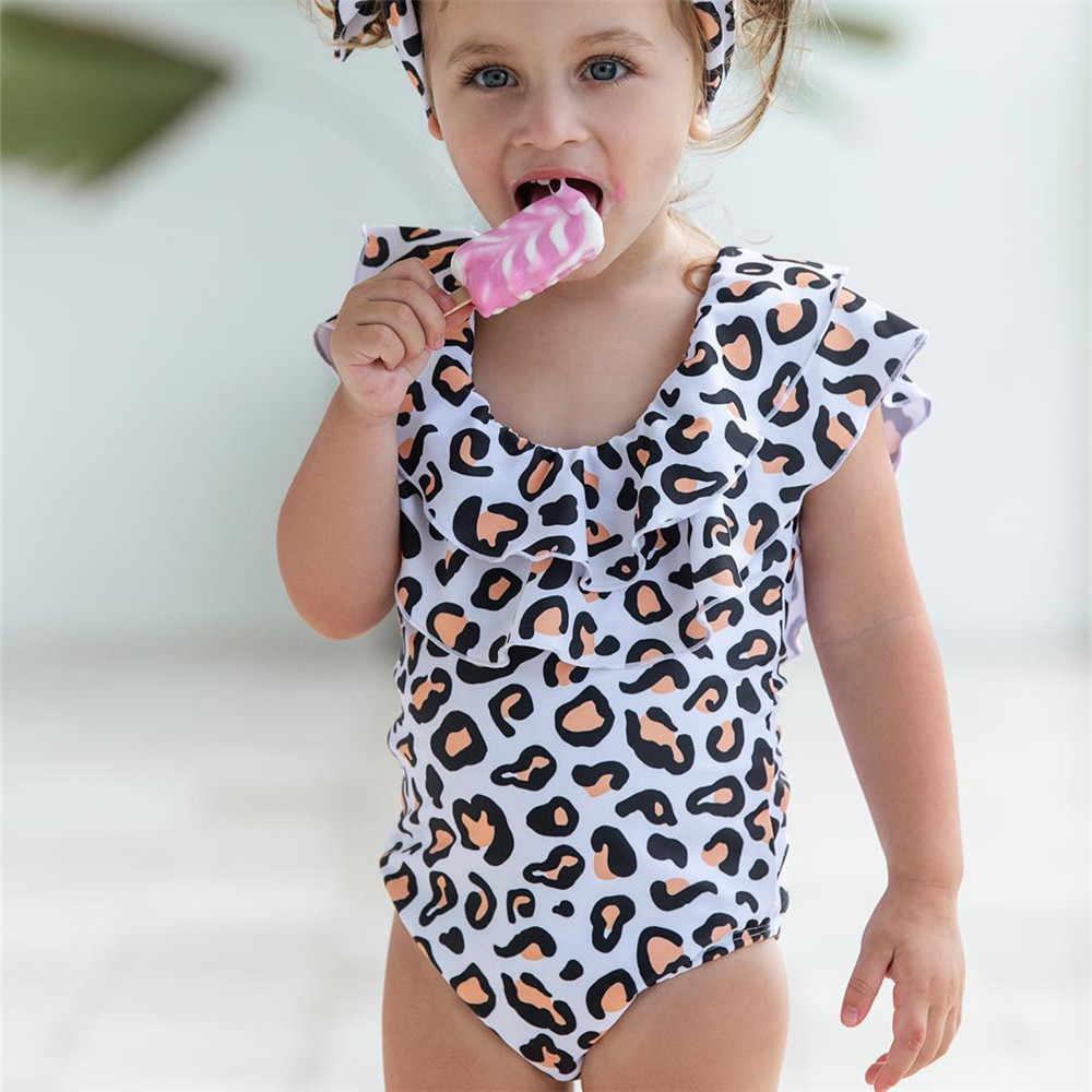 c295dc5d454b68 ... Drop ship 2019 Family Matching Leopard Bikini Women Girls Momther  Daughter Baby Swimsuit Monokini Beach Swimwear ...