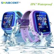 DF25 Smartwatch Niño Nadar IP67 GPS Táctil Teléfono Reloj Inteligente Dispositivo de Localización de Llamadas SOS Tracker Niños Seguro Anti-Perdido Monitor PK Q50