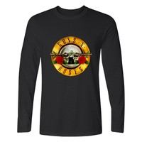Guns N Roses T shirt Hot Men Spirnt Fashion Clothing Men's Long Sleeve T Shirt Cotton Casual T-Shirt Guns N Roses