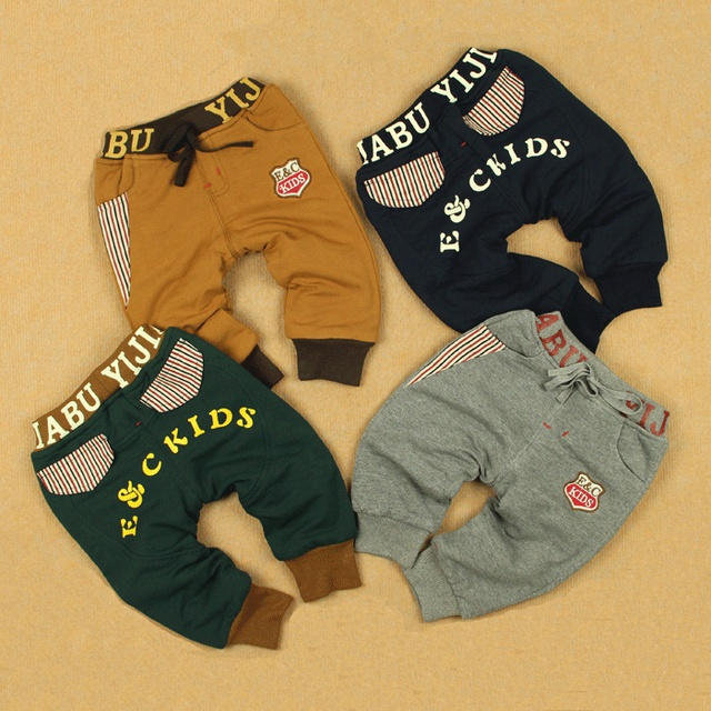 All-match winter polar fleece fabric 100% cotton trousers baby infant children male female child openable-crotch trousers