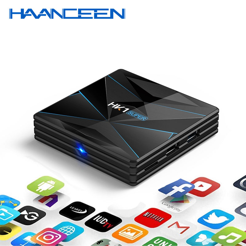 NEWEST HK1 Super Android 9.0 Smart TV BOX MINI PC RK3318 4K 3D Utral HD 4G 64G TV Wifi Play Store Free Apps Set Top Box