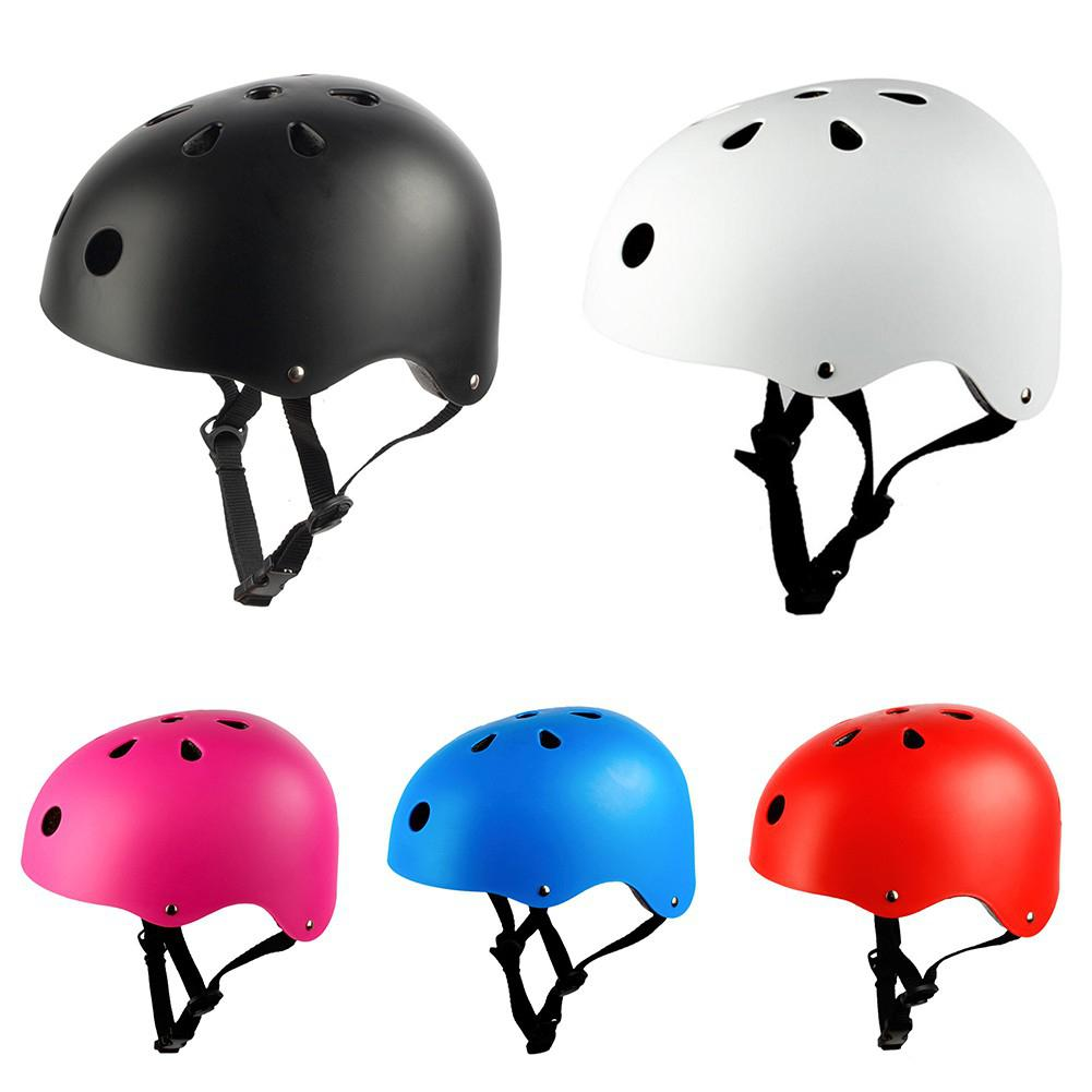 Children Adults Bicycle Helmet Cycling Roller Skateboard Safety Helmet Head Protectors Lightweight Breathable Bike Riding Helmet
