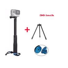 Новый Gopro Выдвижная ручной монопод selfie Stick + мини-штатив для GoPro Hero 5 4 3 + 3 2 Xiaomi yi 4 К SJ4000 SJ5000 Камера