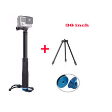 New GoPro Extendable Handheld monopod Selfie Stick + Mini Tripod for GoPro Hero 5 4 3+ 3 2 Xiaomi Yi 4K SJ4000 SJ5000 Camera