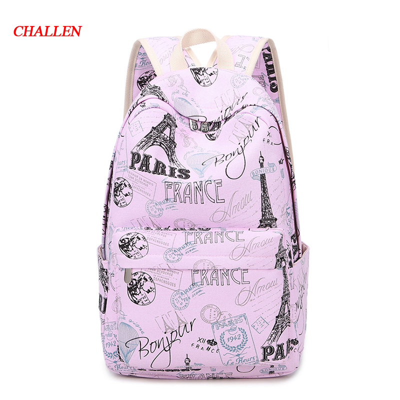 MINI SIZE Print Women Backpack Korean Preppy Teenager Girl School Bag Casual Ladies Travel Daily Bags Laptop Bag Packs