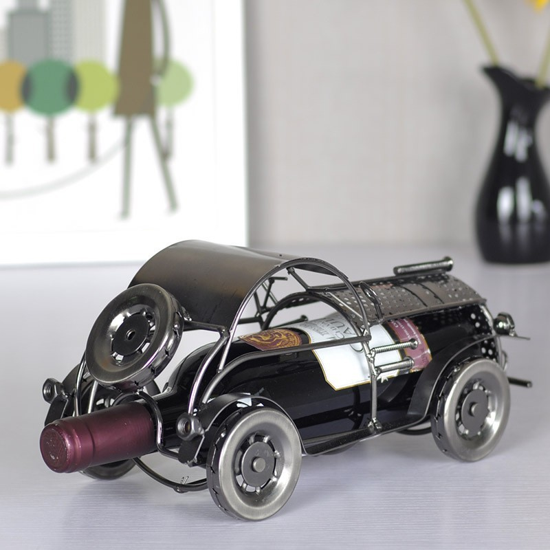 <font><b>Elegant</b></font> And Delicate Retro classic car metal wine rack for gift <font><b>home</b></font> <font><b>decoration</b></font> /Fashion bar wine holder /whiskey stones