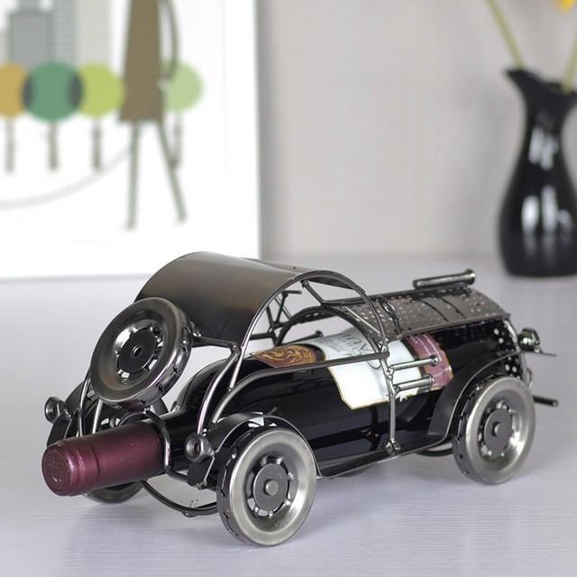 Elegant And Delicate Retro classic car metal wine rack for gift home ...